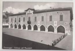 Caravaggio ( Bergamo) Palazzo Del Municipio  - Cartolina Viaggiata  5/4/1964 (525) - Other Cities