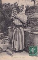 B5- ALGERIE - NEGRESSE ET SON ENFANT- ( OBLITERATION DE CONSTANTINE 1906 - 2 SCANS ) - Women