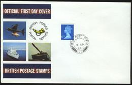 Fd Great Britain FDC 1974 MiNr 658 | Queen Elizabeth II. Field Post Office 168 - 1971-1980 Decimal Issues
