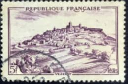 France - République Française -  W1/1A - (°)used - 1946 - Michel 756 - Landschappen - Vezelay - Usados