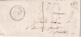 FRANCE LETTRE DE CORLEY AVEC  CORRESPONDANCE - 1801-1848: Precursors XIX