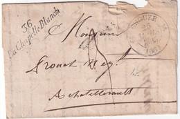 FRANCE 1835 LETTRE DE LA CHAPELLE BLANCHE AVEC  CORRESPONDANCE - 1801-1848: Precursori XIX