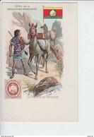 RT29.252  LA POSTE EN BOLIVIE OFFERT PAR LA CHOCOLATERIE D'AIGUEBELLE.AVANT 1904 - Postal Services