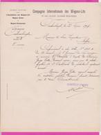 265303 / Turkey 1907 - Comp. Int. Des Wagons-Lits Et Des Grands Express Européens Division De Constantinople Bulgaria - Ferrovie