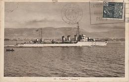 """K11- TORPILLEUR """" SIMOUN """" - (BATEAU DE GUERRE - OBLITERATION DE TOULON DU 8/10/1931) - Guerra"""