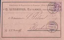 Tavannes BE, Publicité G. Lienhard, Fabrication & Exportation De Fromages Têtes De Moines (7.3.1898) - BE Berne