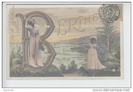 REF19.512  PRENOM  : BERTHE. . LES NOMS ILLUSTRES DE LA MARQUE ETOILE - Vornamen