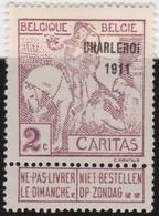 Belgie   .   OBP    .  102    .   *  .    Ongebruikt Met Gom   .   /   .   Neuf Avec Gomme - 1910-1911 Caritas