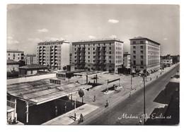 "12991 "" MODENA-VIA EMILIA EST ""ANIMATA-DISTRIBUTORE SHELL-VERA FOTO-CARTOLINA SPEDITA 1955 - Modena"