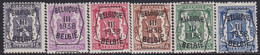 Belgie   .   OBP    .  PRE 345/350   .   **    .    Postfris   .   /   .   Neuf  SANS  Charnière - Typo Precancels 1936-51 (Small Seal Of The State)