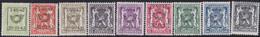 Belgie   .   OBP    .  PRE 484/492   .     **    .    Postfris   .   /     .   Neuf  SANS  Charnière - Tipo 1936-51 (Sigillo Piccolo)