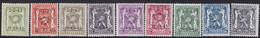 Belgie   .   OBP    .  PRE 493/501     .     **    .    Postfris   .   /    .   Neuf  SANS  Charnière - Sobreimpresos 1936-51 (Sello Pequeno)