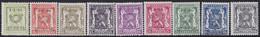 Belgie   .   OBP    .  PRE  511/519   .     **    .    Postfris   .   /     .   Neuf  SANS  Charnière - Sobreimpresos 1936-51 (Sello Pequeno)