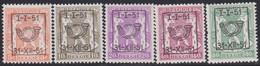 Belgie   .   OBP    .  PRE  589/593   .     **    .    Postfris   .   /     .   Neuf  SANS  Charnière - Sobreimpresos 1936-51 (Sello Pequeno)