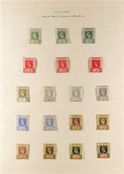 1912-22 KGV Wmk Mult Crown CA Definitives Set Plus Shades Or Different Colour Papers, Plus Wmk Script CA Set, 4s With Wm - Gambia (...-1964)