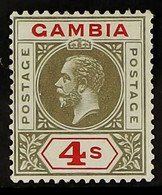 1921-22 4s Black & Red, SG 117, Very Fine Mint For More Images, Please Visit Http://www.sandafayre.com/itemdetails.aspx? - Gambia (...-1964)