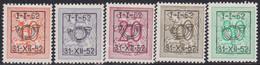 Belgie   .   OBP    .  PRE  620/624   .       **    .    Postfris   .   /    .   Neuf  SANS  Charnière - Sobreimpresos 1936-51 (Sello Pequeno)