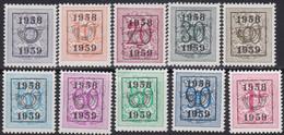 Belgie   .   OBP    .  PRE  676/685   .       **    .    Postfris   .   /   .   Neuf  SANS  Charnière - Tipo 1951-80 (Cifra Su Leone)