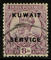 OFFICIALS 1923-24. 8a Purple, SG O9, Fine Used For More Images, Please Visit Http://www.sandafayre.com/itemdetails.aspx? - Koweït