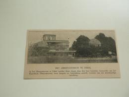 """Origineel Knipsel ( E 530 ) Uit Tijdschrift """" Ons Volk """" 1922 :   Uccle   Ukkel - Unclassified"""