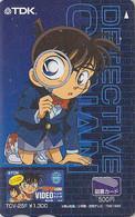 Carte Prépayée JAPON - MANGA - DETECTIVE CONAN - ANIME Movie JAPAN Prepaid Tosho Card  - Holmes 13378 - Cinema