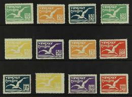 "1928 AIR ""Albatross"" Complete Set (Scott C14/25, SG 569/80), Fine Fresh Mint. (12 Stamps) For More Images, Please Visit  - Uruguay"