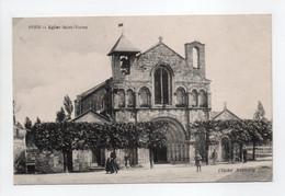 - CPA PONS (17) - Eglise Saint-Vivien - Cliché Basnary - - Pons