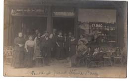SAINT OUEN CAFE TABAC CARTE PHOTO TRES ANIMEE - Saint Denis