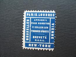 Vignette - Label Stamp - Vignetta Filatelico Aufkleber France   Appareil Pour Humecter Et Coller Les Timbres-poste - Other