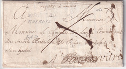 FRANCE 1752 LETTRE DE PLOERMEL AVEC CORRESPONDANCE - 1701-1800: Vorläufer XVIII