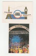 7 CPM:EUROTUNNEL MAQUETTE DU TERMINAL,EUROPA,DE BIG BEN A LA TOUR EIFFEL,PUITS DE SANGATTE,GROUPE OUVRIERS - Other