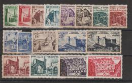 Tunisie 1954 Sites 366-382 17 Val ** MNH - Neufs