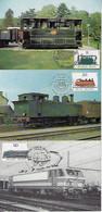 Belgium 1985 3 Maximum Card Train Wagon Locomotive Railroad Railway Transport - Trenes