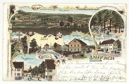 Litho Ansichtskarte Gruß Aus LAUFACH Lkr Aschaffenburg 1899 - Aschaffenburg
