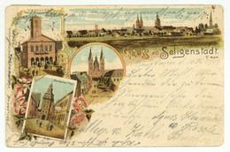 Litho Ansichtskarte Gruß Aus SELIGENSTADT Lk Offenbach 1904 - Offenbach