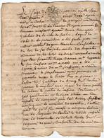 VP18.185 - Cachet De Généralité BORDEAUX - Acte De 1782 Relatif Au Chevalier Martial De GIAC Mort Sur L'échafaut En 1794 - Seals Of Generality