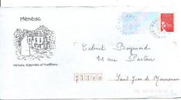 PAP MENEAC MORBIHAN - Prêts-à-poster:private Overprinting