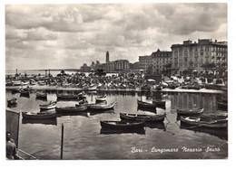 """12998 """" BARI-LUNGOMARE NAZARIO SAURO """" ANIMATA-VERA FOTO-CARTOLINA SPED. 1958 - Bari"""