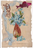 Fête : 1er Avril - Poisson D'Avril : Carte En Celluloïd Festonnée : Avec Découpis Et Ajoutis - 1 De April (pescado De Abril)