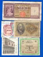 Italie  5  Billets - Non Classés
