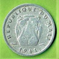 5 FRANCS MALIENS / 1961 / REPUBLIQUE DU MALI / ALU - Mali (1962-1984)