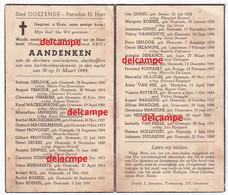 OORLOG GUERRE Oostende Bombardement 30 Maart 1944 Defloor Gunst Smagghe Demoor Rosseel - Imágenes Religiosas