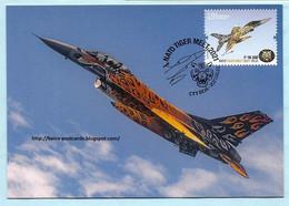 PORTUGAL - AIR FORCE F16 AM AIRCRAFT NATO TIGER MEET MILITARIA MAXIMUM CARD - Cartes-maximum (CM)