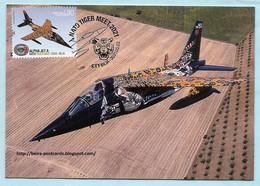 PORTUGAL - AIR FORCE ALPHA JET AIRCRAFT NATO TIGER MEET MILITARIA MAXIMUM CARD - Cartes-maximum (CM)