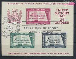 UNO - New York Block1I (kompl.Ausg.) Gestempelt 1955 10 Jahre UNO (9636837 - Gebraucht