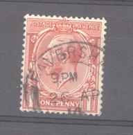 0gb  0595  -  GB  :  Yv 158   (o)  Filigrane F - Gebraucht
