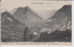 09 – LA HAUTE ARIEGE – SAURAT – Montorgueil – Sondour - Calamès – Chaine Des Pyrénées – Bergère Et Moutons – CPA écrite - Otros Municipios
