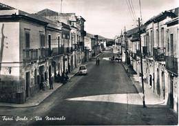 B4632- Messina, Furci Siculo, Via Nazionale, Viaggiata 1959 ? F. G. - Messina