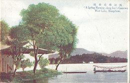 CPA Chine A Spring Morning Along Soo's Causewa West-Lake Hangchow - China