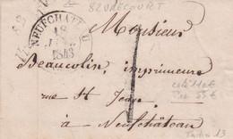 """Cursive """" 82 VRECOURT """" + C13 Du 18 Janvier 1843 - 1801-1848: Precursores XIX"""